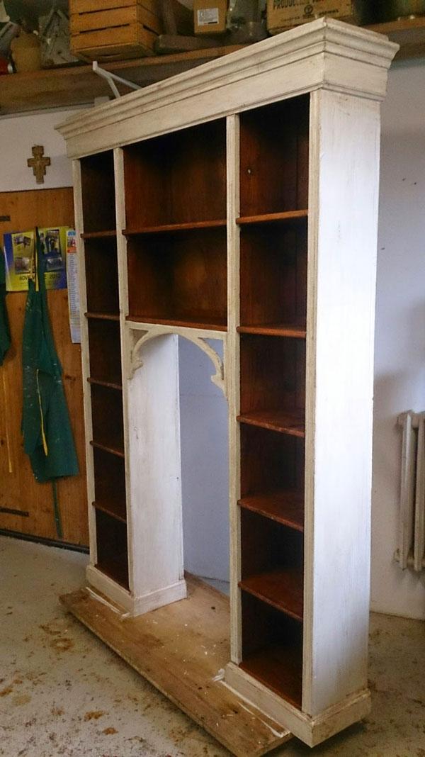 Libreria Laccatura Legno Dopo il Trattamento