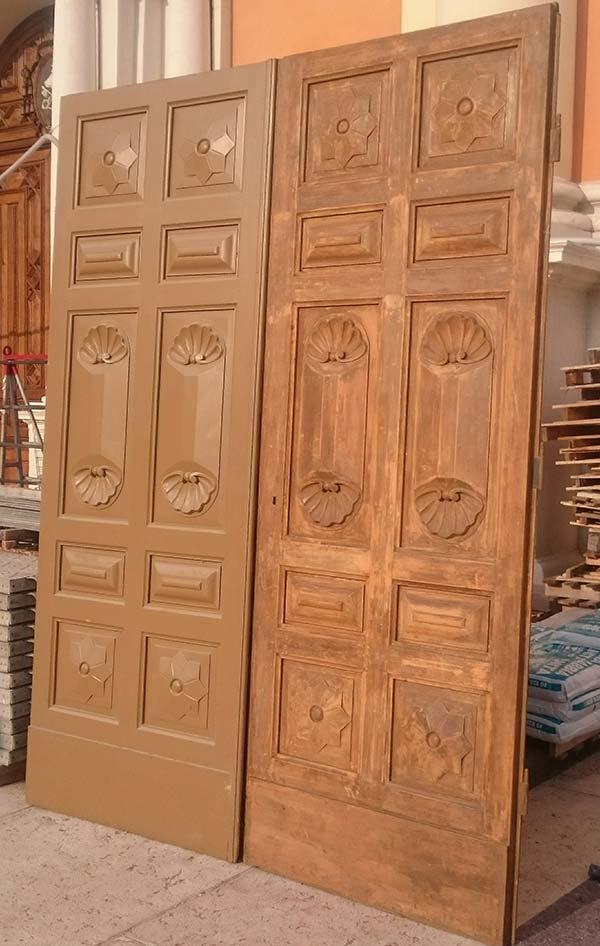 Particolare del Restauro Bussole del Duomo di Carpi