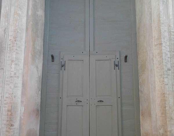 Restauro Portone Chiesa del Cristo Reggio Emilia