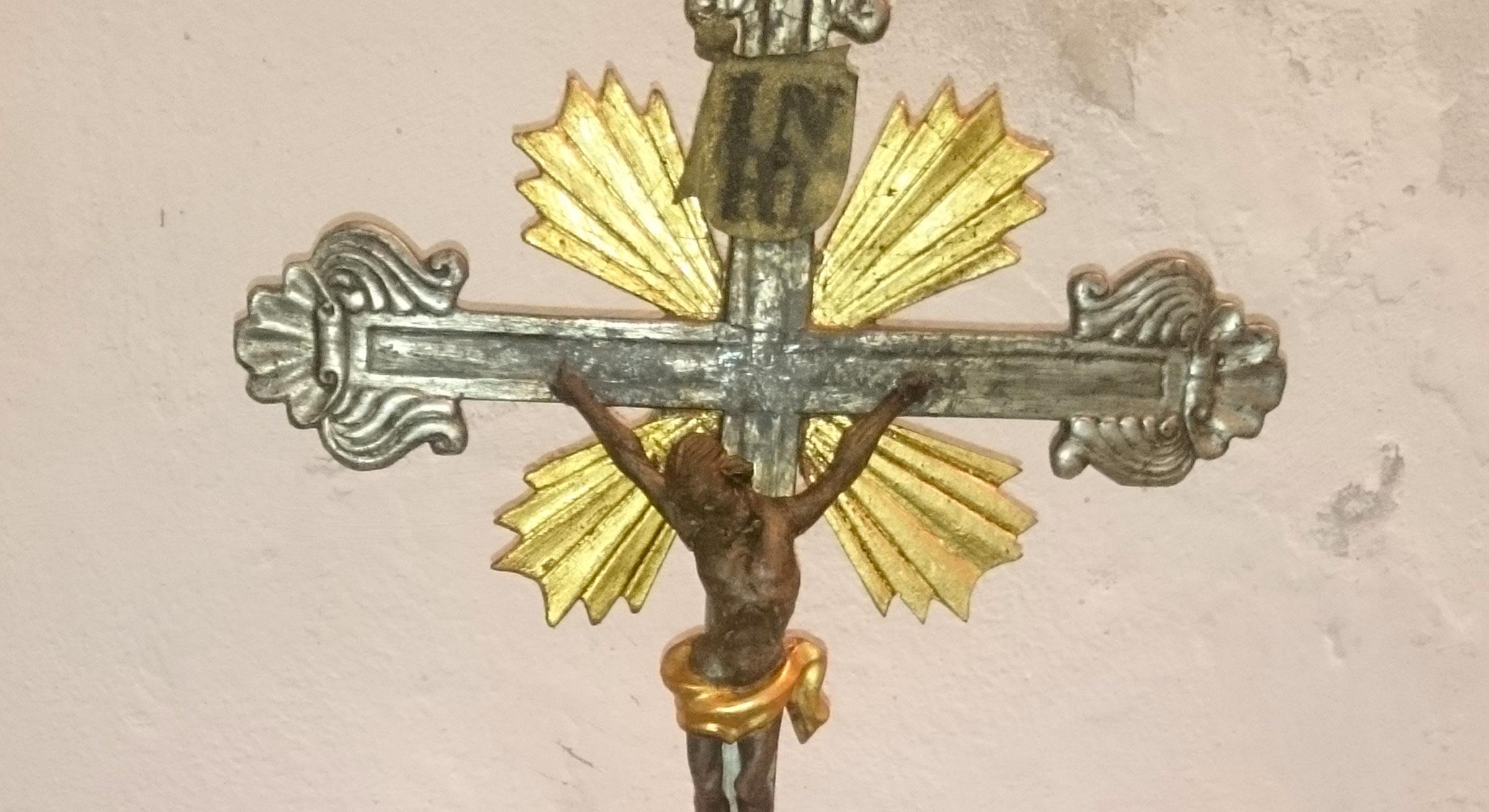 Sculture Lignee Policrome Cristo crocifisso